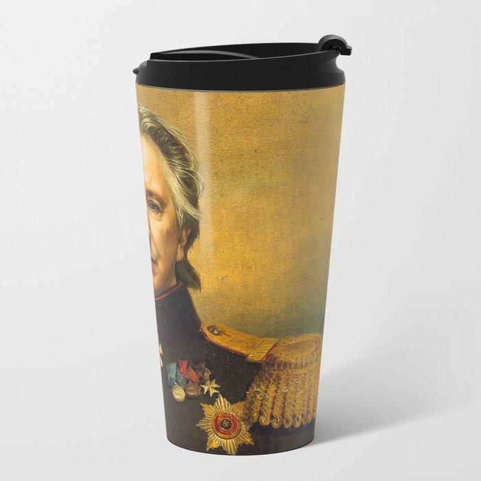 Alan Rickman - replaceface Metal Travel Mug