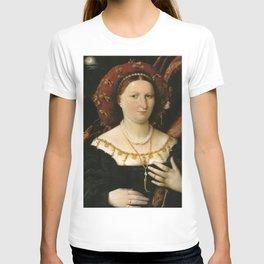 Lorenzo Lotto - Portrait of Lucina Brembati T-shirt