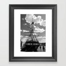 Baltimore Harbor - USS Constellation Framed Art Print