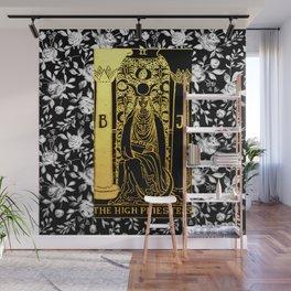 Floral Tarot Print - The High Priestess Wall Mural