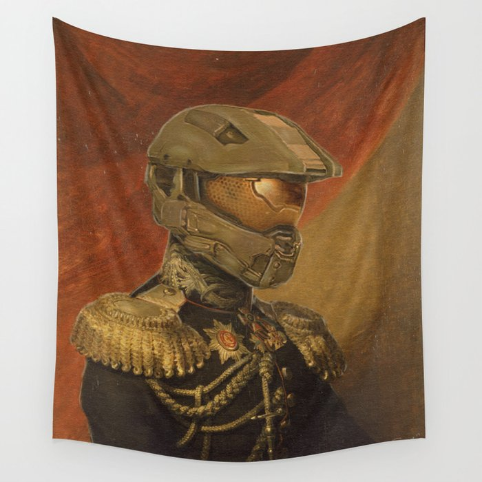 Halo Master Chief Spartan 117 Class Photo General Painting Fan Art Wall Tapestry By Steelartstudios