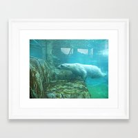 swimming Framed Art Prints featuring Swimming by Serena Gailey