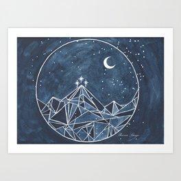 Night Court moon and stars Art Print