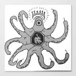 Knocktopus Canvas Print
