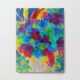 TUTTI FRUTTI - Fruit Punch Floral Bouquet Flowers Bright Bold Colorful Painting Romantic Rainbow Metal Print