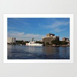 City Across The River Art Print