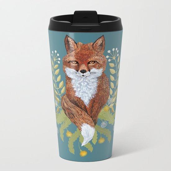 Fox Brown Metal Travel Mug