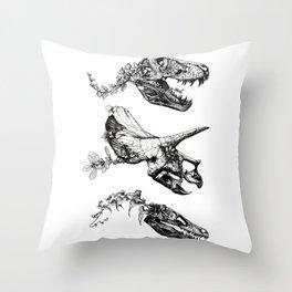 Jurassic Bloom. Throw Pillow
