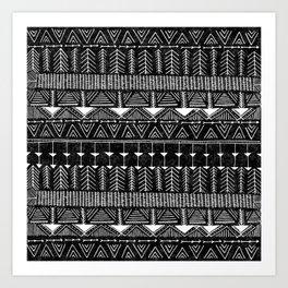 Lobo, Black Art Print