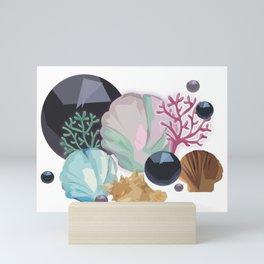 shells and corals Mini Art Print