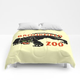 Black panther Brookfield Zoo ad Comforters