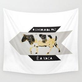 O simbolo da paz é a vaca Wall Tapestry