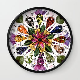 Flower Mandala Wall Clock