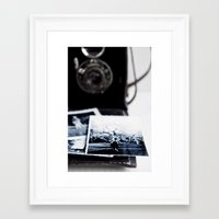 vintage camera Framed Art Prints featuring camera by Ingrid Beddoes