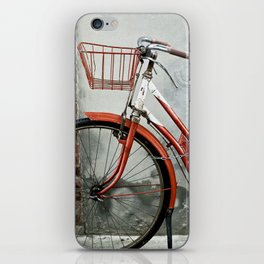 Red bicycle iPhone Skin