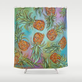 Dancing Pineapples Shower Curtain