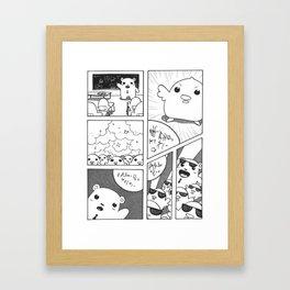 Non-Narrative Narrative Conceptual Manga Framed Art Print
