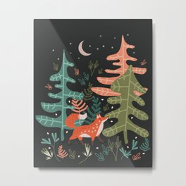 Evergreen Fox Tale Metal Print