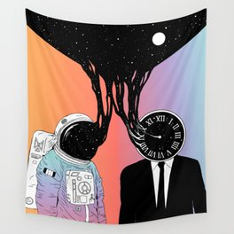 A Portrait of Space and Time ( A Study of Existence) Wall Tapestry