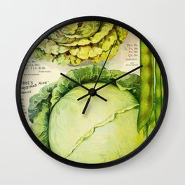 Vintage Vegetable Advertisement (1907) Wall Clock