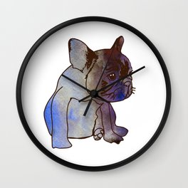 French Bulldog Pyppy Cute baby Dog Wall Clock