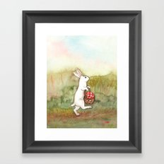 On the Way to the Picnic Framed Art Print