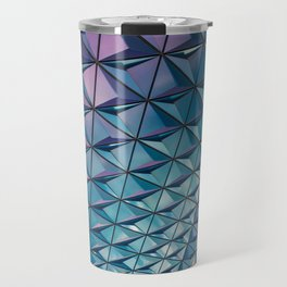 Blue Purple Geometric Pattern Travel Mug