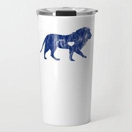Lion Lion Lover Big Cat Sports Team Mascots I Love Lions Blue Travel Mug