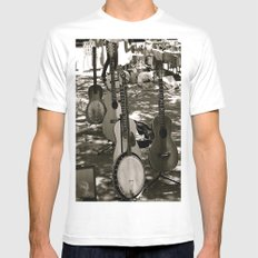 The Band MEDIUM White Mens Fitted Tee