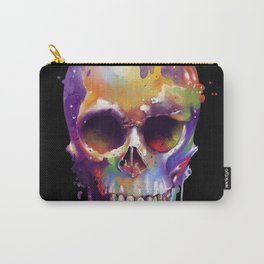 colorful skull black Carry-All Pouch