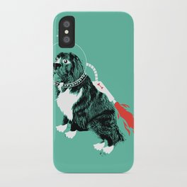 A Flying Dog In Outer Space iPhone Case