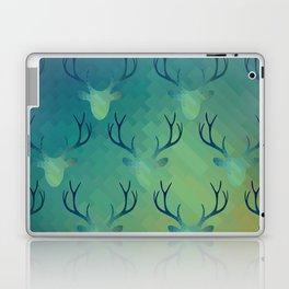 Aqua Antlers Pattern Laptop & iPad Skin
