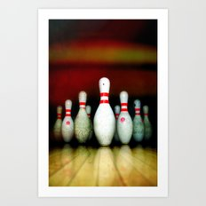 BOWLING - for iphone Art Print