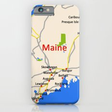 Map of Maine state, USA Slim Case iPhone 6s