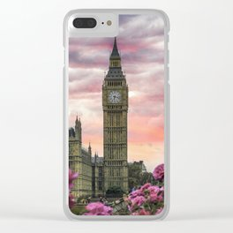 London Pink Clear iPhone Case