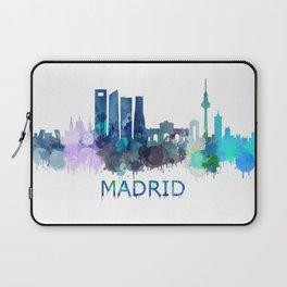 Madrid City Skyline HQ Laptop Sleeve