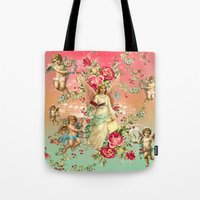 romantic Tote Bags featuring romantic by mark ashkenazi