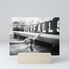 Ropes of Overfalls Lightship Black and White Photograph Mini Art Print
