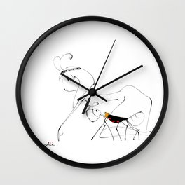 let's go find food together Wall Clock