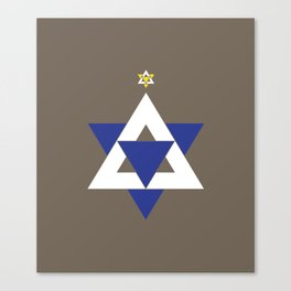 Christmas Star of David Canvas Print