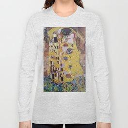 THE KISS COLLAGE. GUSTAV KLIMT. Long Sleeve T-shirt