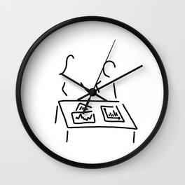 meeting analyst banker manager Wall Clock