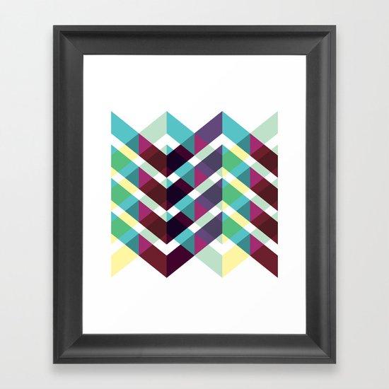 Geometric Pattern #4 (Zig Zag) Framed Art Print