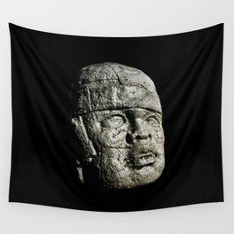 Mexican Pre Hispanic Head Sculpture Poster Wall Tapestry