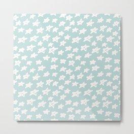 Stars on mint background Metal Print