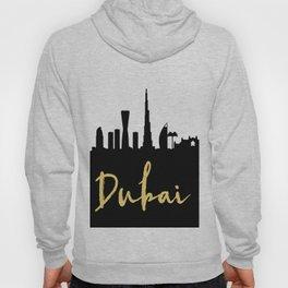 DUBAI UAE DESIGNER SILHOUETTE SKYLINE ART Hoody