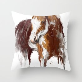 Paint Horse. Throw Pillow