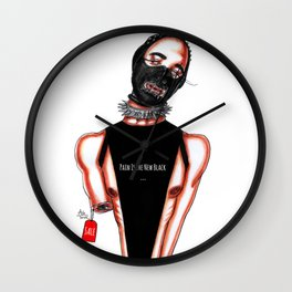 Pain Is The New Black Wall Clock