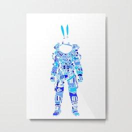Astro Bunni Metal Print