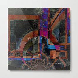 Rising From Darkness Abstract - Happiness - Inspiration Metal Print